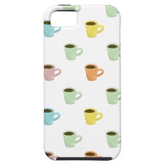 コーヒーパターン iPhone SE/5/5s ケース