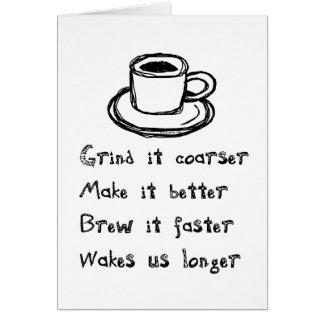 コーヒーパンクの挨拶状 カード