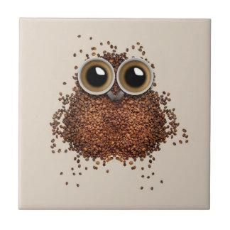 コーヒーフクロウのセラミックタイル タイル