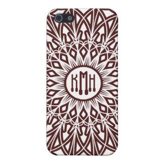 コーヒーブラウンのかぎ針編みのレースのiphone 4ケース iPhone 5 cover