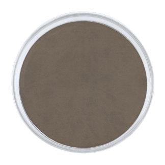 コーヒーブラウン色のビロードのカスタムな家のカジノ シルバー ラペルピン