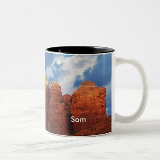 コーヒーポットの石のマグのサム ツートーンマグカップ