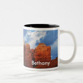 コーヒーポットの石のマグのBethany ツートーンマグカップ
