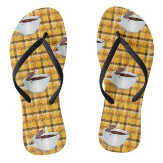 コーヒーマウスのビーチサンダルのサンダルの靴 ビーチサンダル