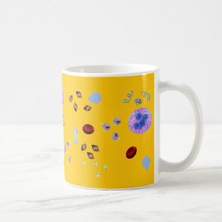 コーヒーマグ尿の微粒子(黄色い背景) コーヒーマグカップ