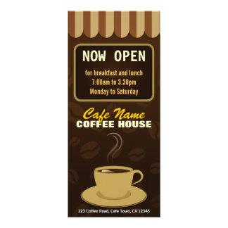 コーヒーメニュー喫茶店のコーヒーカップのカフェの棚カード パーソナライズラックカード