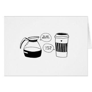 コーヒーラテのバレンタインの愛 カード