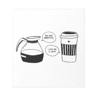 コーヒーラテのバレンタインの愛 ノートパッド