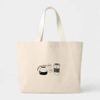 コーヒーラテのバレンタインの愛 ラージトートバッグ