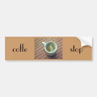 コーヒー停止 バンパーステッカー