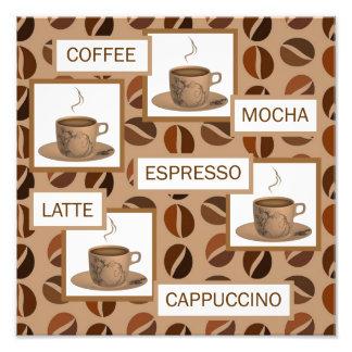 コーヒー写真のプリント フォトプリント