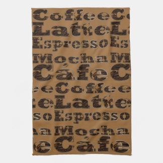 コーヒー単語 キッチンタオル