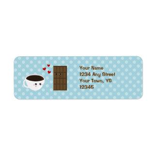 コーヒー及びチョコレート愛 ラベル