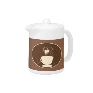 コーヒー及びチョコレート茶ポット
