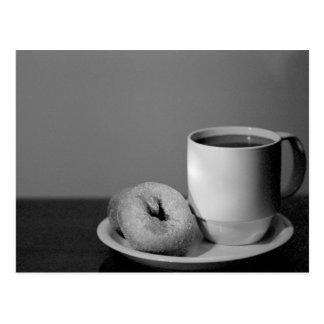 コーヒー及びドーナツ ポストカード