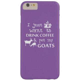 コーヒー及びヤギ BARELY THERE iPhone 6 PLUS ケース