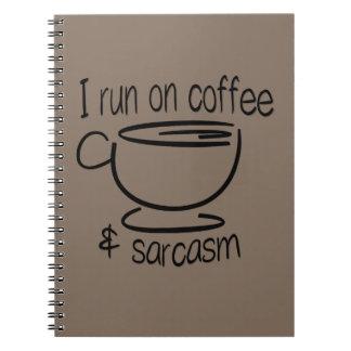 コーヒー及び皮肉で走られるI ノートブック