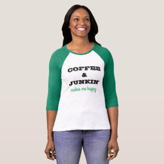 コーヒー及びJunkinの発言を用いるかわいいt-thirt Tシャツ