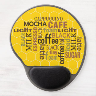 コーヒー地下鉄の芸術の労働者の黄色のゲルのマウスパッド ジェルマウスパッド