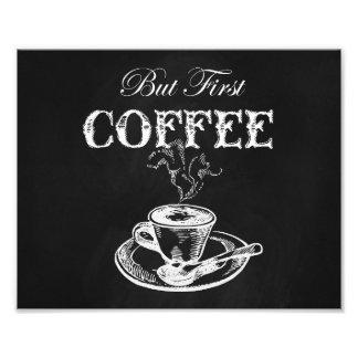 コーヒー壁の芸術の黒板 フォトプリント