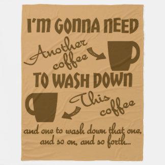 コーヒー崇敬のカフェインのユーモア フリースブランケット