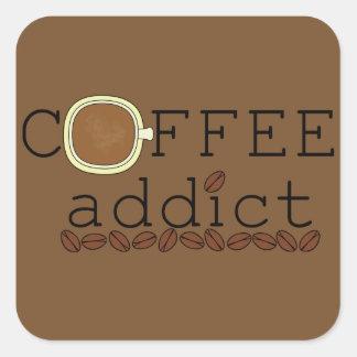 コーヒー常習者の豆-色を変えて下さい スクエアシール