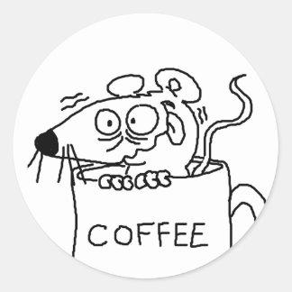 コーヒー常習者 ラウンドシール