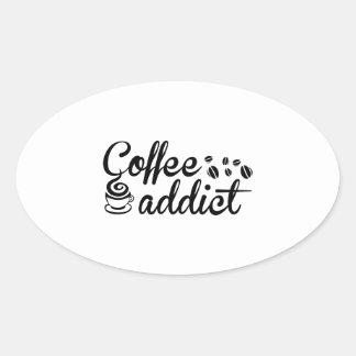 コーヒー常習者 楕円形シール