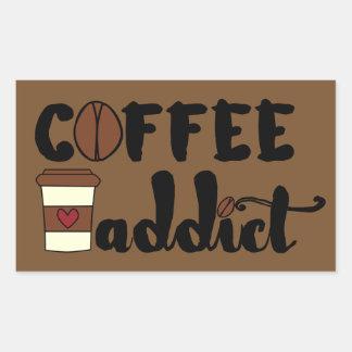 コーヒー常習者II 長方形シール