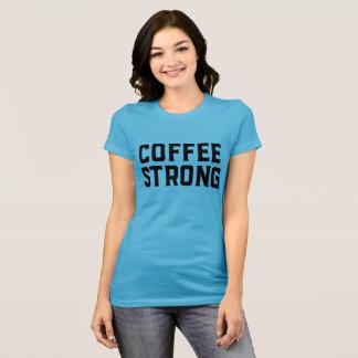 コーヒー強く短い袖のティー Tシャツ