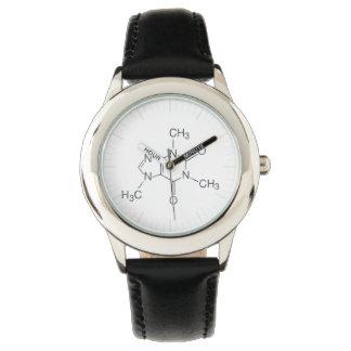 コーヒー恋人のためのカフェインの分子 腕時計