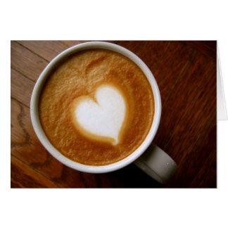 コーヒー恋人のカスタマイズ可能なバレンタインカード カード
