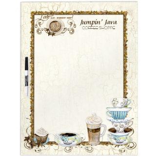 コーヒー恋人のカスタムなビストロのレストランメニュー板 ホワイトボード