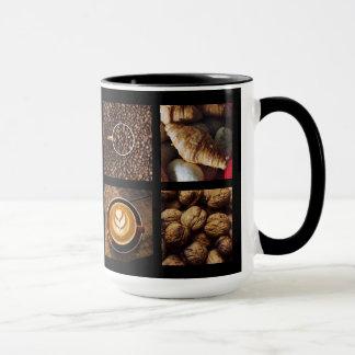コーヒー恋人のカスタムなモノグラムのマグ1 マグカップ
