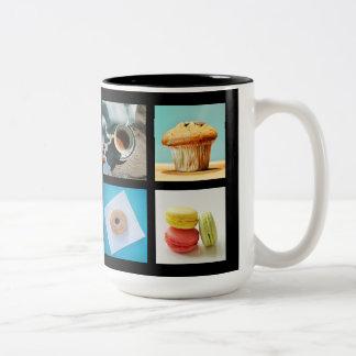 コーヒー恋人のカスタムなモノグラムのマグ2 ツートーンマグカップ