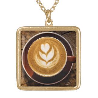 コーヒー恋人のネックレス ゴールドプレートネックレス