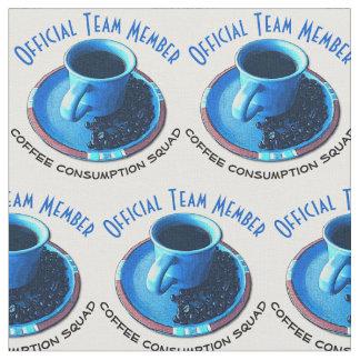 コーヒー恋人の公式のチーム・メンバーのデザイン ファブリック