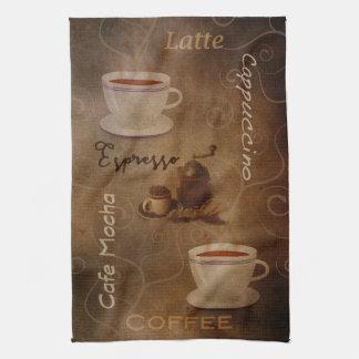 コーヒー恋人の単語の芸術の台所タオル キッチンタオル