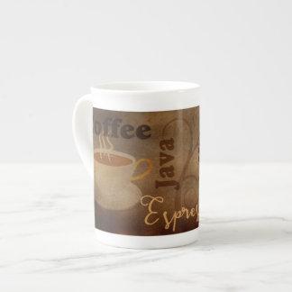 コーヒー恋人の単語の芸術の骨灰磁器のマグ ボーンチャイナカップ