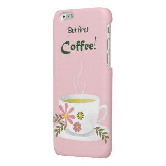 コーヒー恋人のiphoneの場合 光沢iPhone 6ケース
