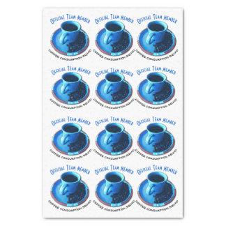 コーヒー恋人青いカップ・アンド・ソーサーの繰り返しパターン 薄葉紙
