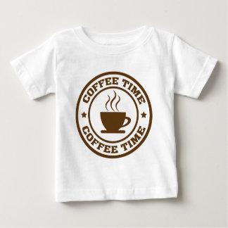 コーヒー時間コーヒーカップ ベビーTシャツ