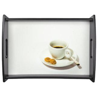 コーヒー時間サービングの皿 トレー