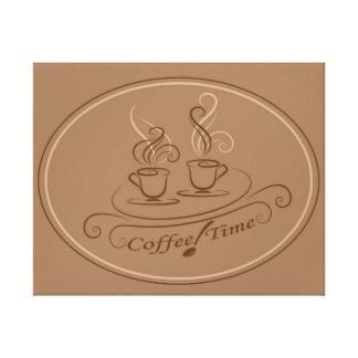 コーヒー時間デザイン キャンバスプリント