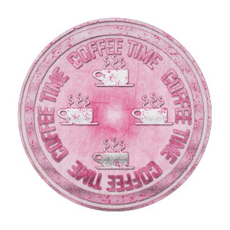コーヒー時間ピンク カッティングボード