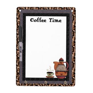コーヒー時間乾燥した消去板 ホワイトボード