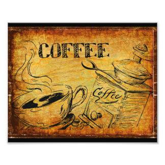 コーヒー時間朝食 フォトプリント