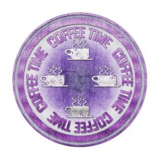 コーヒー時間紫色 カッティングボード
