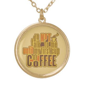 コーヒー最初ネックレス ゴールドプレートネックレス