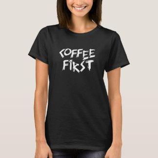コーヒー最初女性ワイシャツ Tシャツ
